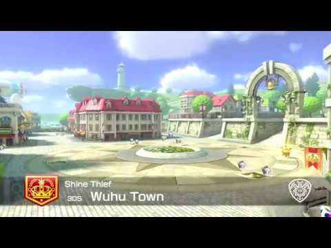 Mario Kart 8 Deluxe - Wuhu Town [3DS] - Shine Thief (Direct-Feed Switch Gameplay) - default
