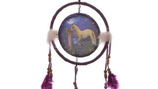 Yhon Soto Solutions - Novelty Gift Decorative Fantasy Unicorn Garden 16cm Dreamcatcher