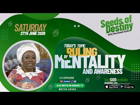 Dr Becky Paul-Enenche - SEEDS OF DESTINY  SATURDAY JUNE 27, 2020