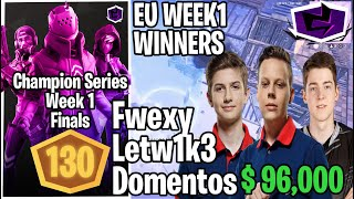This How Gambit Fwexy & Letw1k3, Secret Domentos Won The FCS Week 1 With 130 Points & $96,000