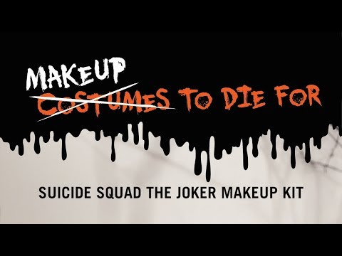Makeup To Die For - Suicide Squad The Joker Makeup Kit with Dre Ronayne | AudioMania.lt