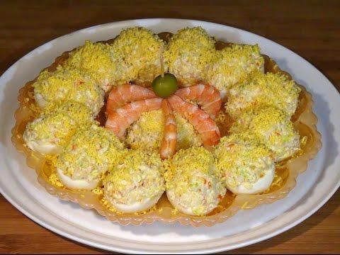 Receta Huevos rellenos de marisco - Recetas de cocina, paso a paso. Tutorial. Loli Domínguez - UC5ONfXPjWgqElh0NZaRJ1tg
