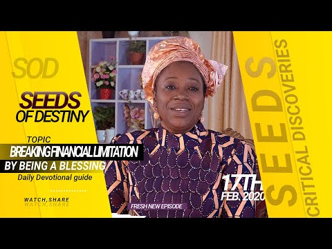Dr. Becky Paul-Enenche - SEEDS OF DESTINY - MONDAY 17TH FEBRUARY, 2020