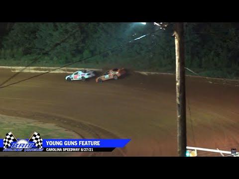 Young Guns Feature - Carolina Speedway 8/27/21 - dirt track racing video image