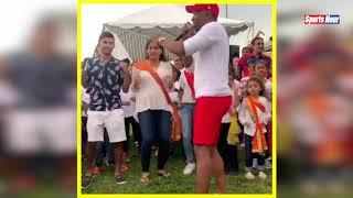 अपने  Birthday पर DJ Bravo का बच्चों के साथ जबरदस्त डांस, बच्चों के साथ जमकर थिरके