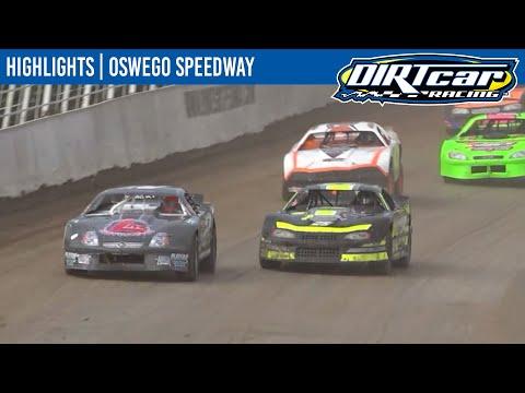 DIRTcar Pro Stocks Oswego Speedway October 10, 2021 | HIGHLIGHTS - dirt track racing video image