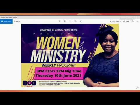 WOMEN IN MINISTRY WEEKLY PROGRAM - ABIDING IN YOUR CALLING PART 2