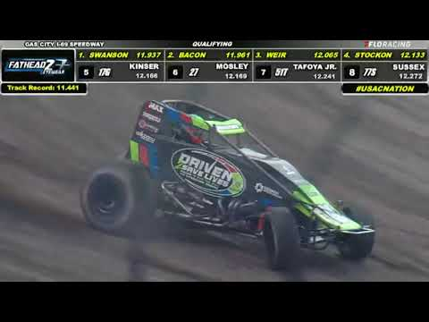 LIVE: USAC Sprint Car Qualifying | 2021 Indiana Sprint Week at Gas City - dirt track racing video image
