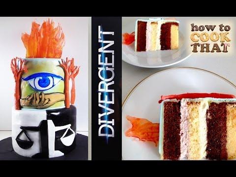Divergent Cake HOW TO COOK THAT Ann Reardon Allegiant Insurgent Alegient Movie Cake