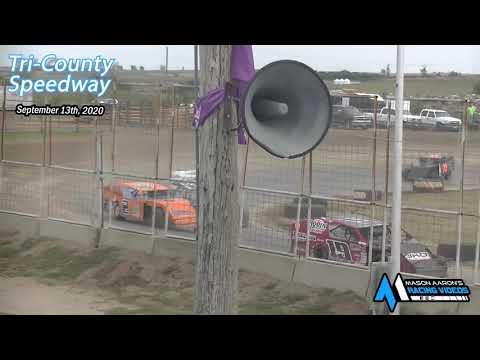 Tri-County Speedway IMCA Modified Races (Sauerkraut 500 Night #2) (9/13/20) - dirt track racing video image