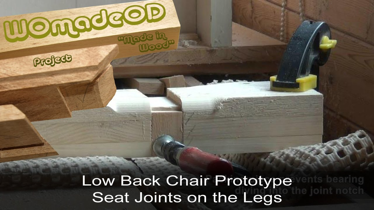 Sexy Low Back Chair Prototype - 4. Seat Joints on Legs