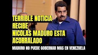 HOY VENEZUELA NICOLAS MADURO NO TIENE $$$ PARA GOBERNAR CONFIRMADO