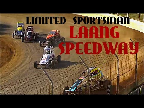 Limited Sportsman Laang Speedway - dirt track racing video image