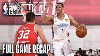 CROATIA vs THUNDER | Oklahoma City Takes Back and Forth Finish | MGM Resorts NBA Summer League