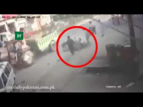 Tractor Hardly Hits Bike Rider