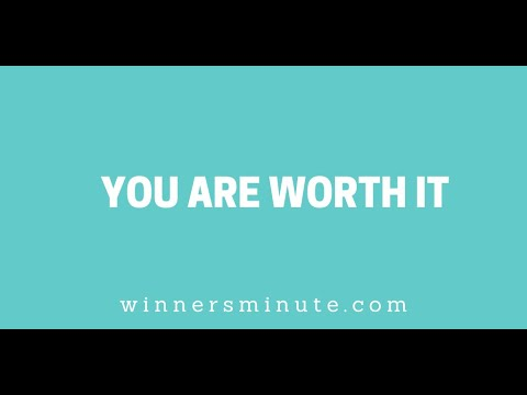 You Are Worth It // The Winner's Minute With Mac Hammond