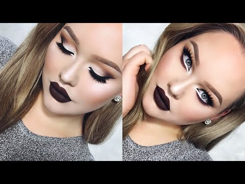 Extreme Cat Eyes & CHOCOLATE Lips Glam Holiday Makeup - UCzTKskwIc_-a0cGvCXA848Q