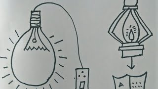 How to draw Save Electricity /Drawing on save Electricity for kids in easy method