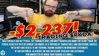 False Breakout -$2,237 on $RKDA | Ross' Trade Recap