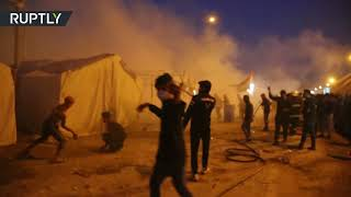 Supporters of Sadr raid anti-govt protesters' camp in Iraq's Najaf, at least 5 killed