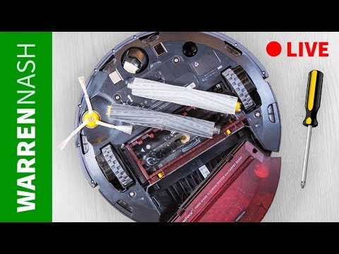 Cleaning Roomba 980 LIVE - How long does it take? Warren Nash - UCXzNTY6G7ulcnYh3D4MBpKQ