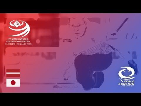 Latvia v Japan - round robin - LGT World Women's Curling Championships 2019