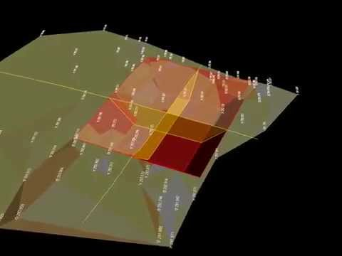 Rendering di rilievi topografici sovrapposti