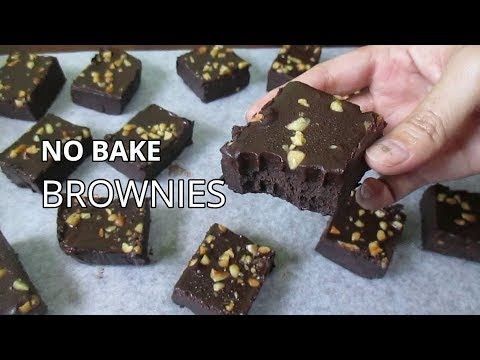 No Bake Brownies | How to Make Brownies Without Oven
