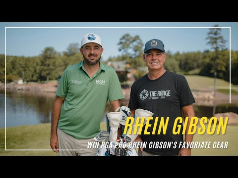Win PGA Golf Pro Rhein Gibson's Favorite Gear. Prize includes Signed Mizuno Golf Bag, Armored Gamut 2.0 Backpack, Swag Golf Putter and more! Arv $2000 Giveaway Image