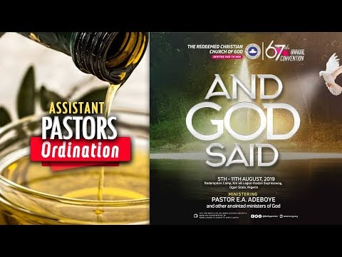 DAY 2 RCCG HOLY GHOST CONVENTION 2019 - ORDINATION OF ASSISTANT PASTORS