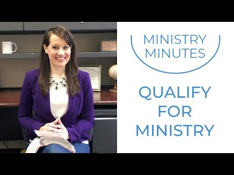 How to Qualify Yourself for Ministry