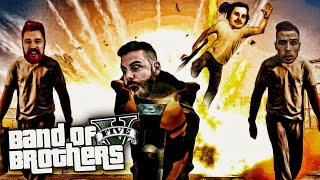 The Humane Labs Raid HEIST with the BAND OF BROTHERS - GTA 5 PC ONLINE FUNNY MOMENTS