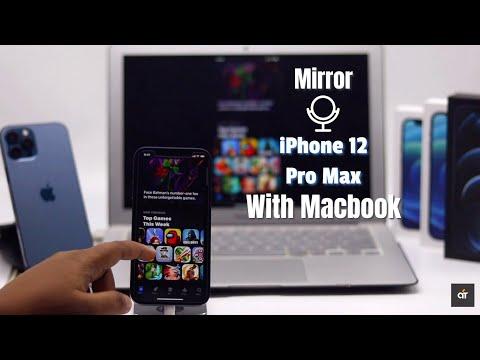 iPhone 12, 12 Mini, 12 Pro Max mirror with MacBook Pro/Air 2021