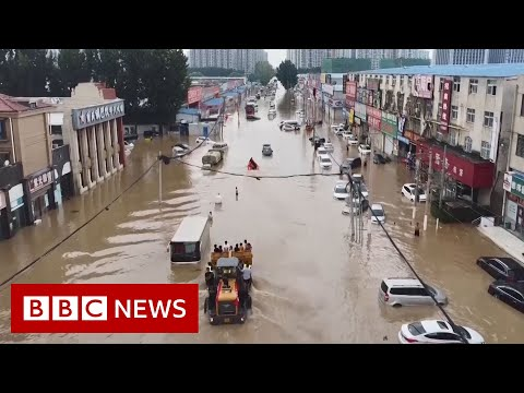 Drone video shows scale of China floods damage - BBC News - UC16niRr50-MSBwiO3YDb3RA