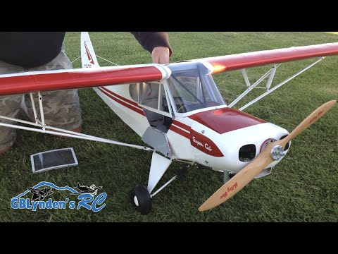 Hangar 9 Super Cub 1/4 Scale PA-18 RC Plane - Super Cub ARF with a VVRC 40 Twin Engine - default