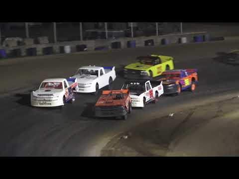 Pro Truck A-Feature at Crystal Motor Speedway, Michigan on 09-18-2021!! - dirt track racing video image