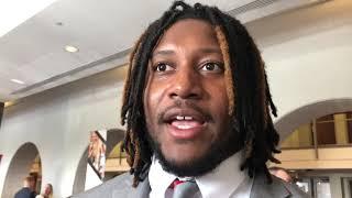 Davon Hamilton discusses Ohio State job fair, WWE visit