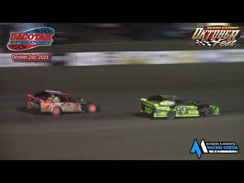 Dacotah Speedway IMCA Sport Mod A-Main (Oktoberfest) (10/2/21) - dirt track racing video image