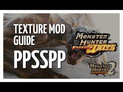Monster Hunter Freedom Unite | Texture Mod Guide | PPSSPP - VidVui