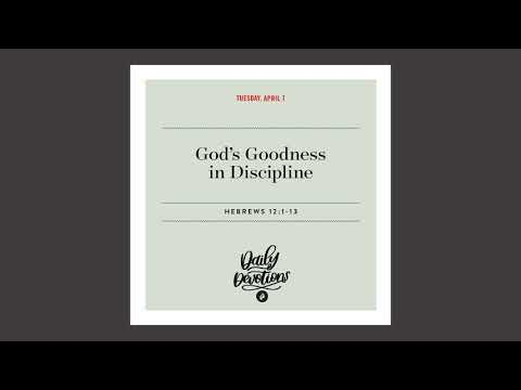 Gods Goodness in Discipline - Daily Devotional