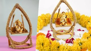 Lord Ganapathy Swing Chair Craft | Best out of waste things craft Navaratri Golu Crafts Simple Ideas