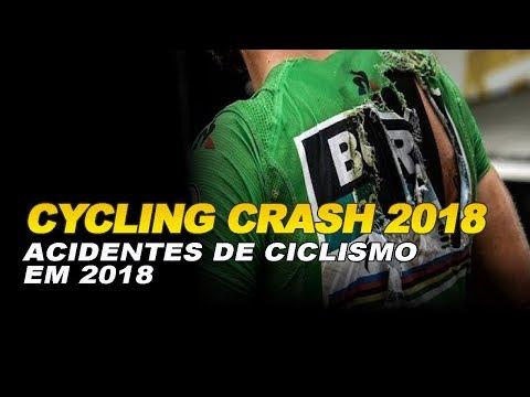 Cycling crash in 2018 (Acidente de ciclismo em 2018)