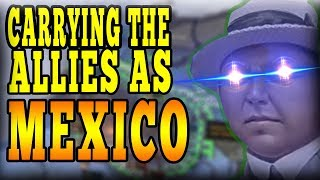 HOW 1 MEXICAN TANK HELD GERMANY IN FRANCE! CARRYING THE ALLIES AS MEXICO IN MP! - HOI4 Multiplayer