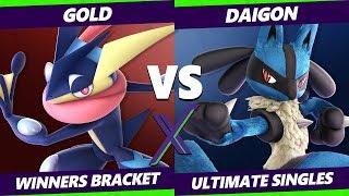 Smash Ultimate Tournament - Gold (Greninja) Vs WD   Daigon (Mewtwo, Lucario) S@X 316 Winners Round 3