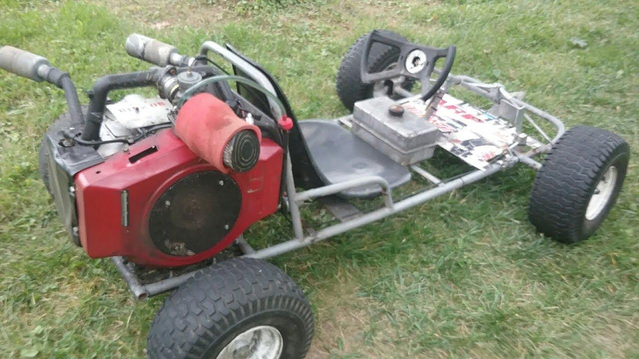 Vertical Shaft Go Kart : Cc briggs twin go kart horizontal conversion racer lt