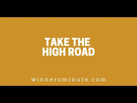 Take the High Road // The Winner's Minute With Mac Hammond