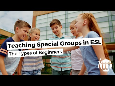 Teaching Special Groups in ESL - The Types of Beginners
