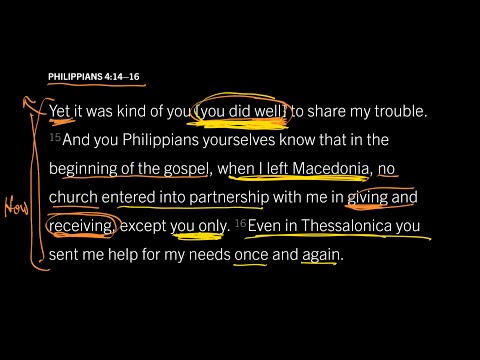 Philippians 4:1416 // Any Christian Generosity Is Beautiful to God