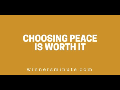 Choosing Peace Is Worth It // The Winner's Minute With Mac Hammond