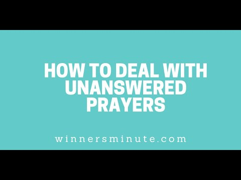 How to Deal With Unanswered Prayers // The Winner's Minute With Mac Hammond